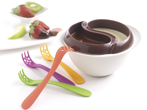 Czekoladowe fondue Yin i Yang do przygotowania w mikrofali marki Mastrad