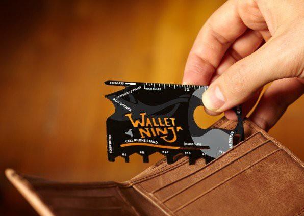 Karta przetrwania Wallet Ninja 18 narzędzi