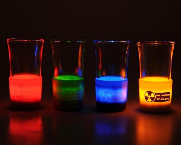 LEDowe kieliszki do wódki
