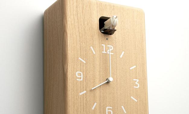 minimalistyczny zegar z kukułką