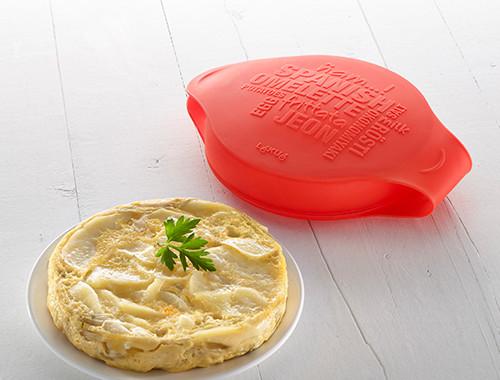silikonowe naczynie do hiszpańskiego omletu Lekue