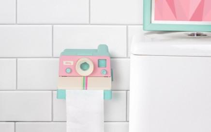 pastelowy podajnik papieru Polaroll Doiy Design