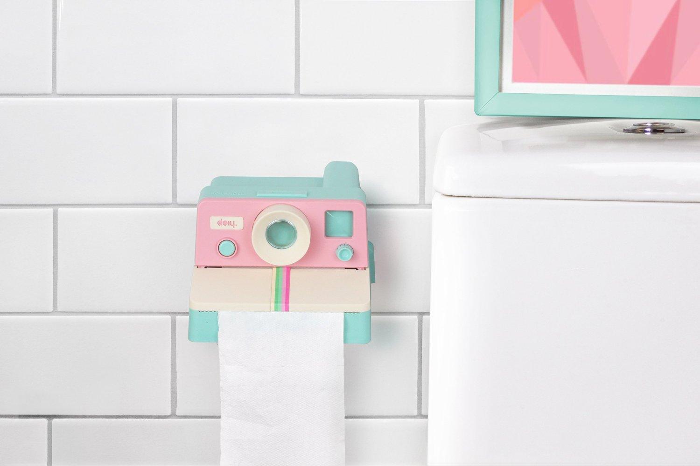 Pastelowy podajnik papieru aparat Polaroll marki Doiy