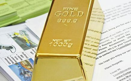luksusowy przycisk do papieru sztabka złota