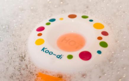 termometr do kąpieli ostrzegający przed gorącą wodą koo-di