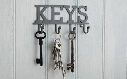 wieszak na klucze z napisem KEYS kitchen craft