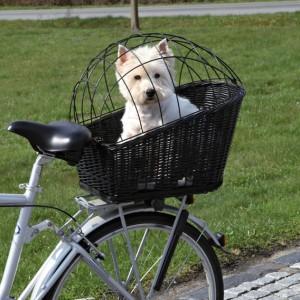 Rowerowy koszyk z kratką do transportu psa od Trixie