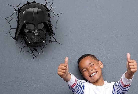 lampa ścienna vader star wars