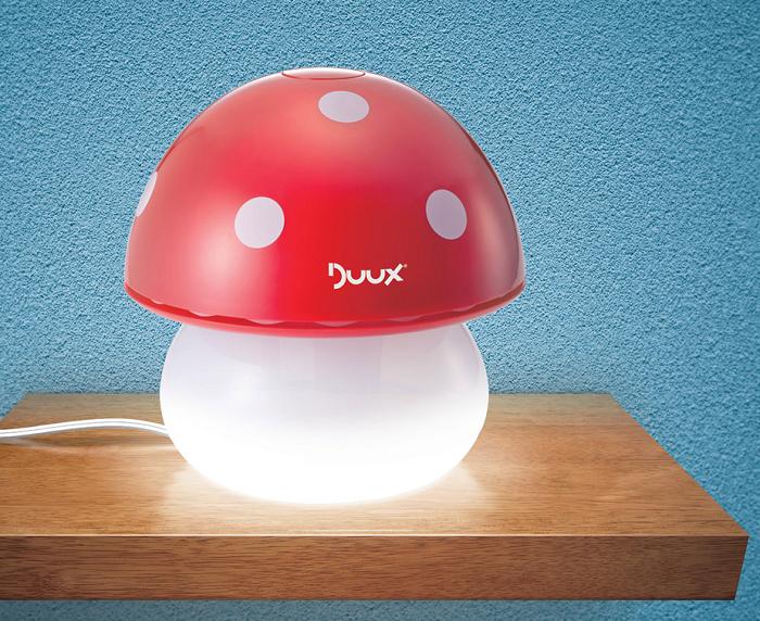 Nawilżacz powietrza grzybek z funkcją lampki nocnej firmy Duux