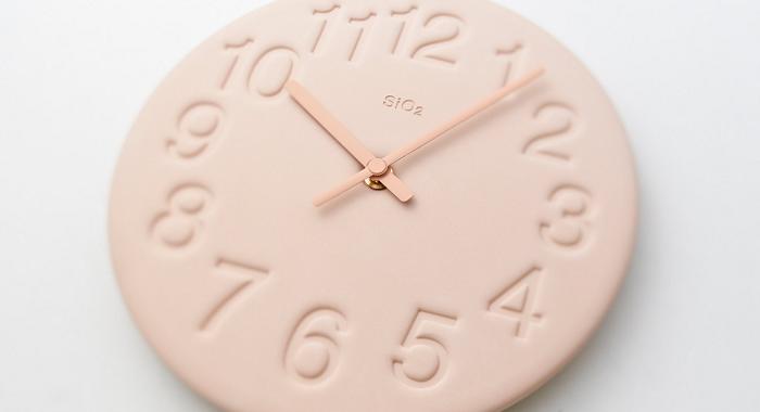 pastelowy zegar jak cukierek Lemnos