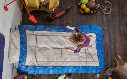 Dziecięca pościel trampolina SNURK