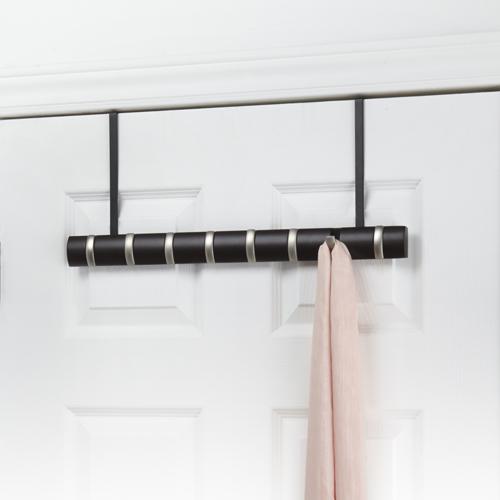 wieszak na drzwi z chowanymi haczykami czarny Umbra