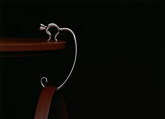 Wieszak na torebkę kot od Alessi
