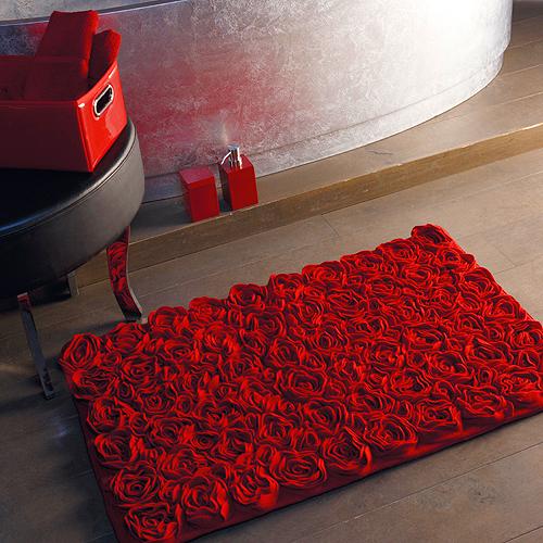Dywanik łazienkowy róże marki Aquanova