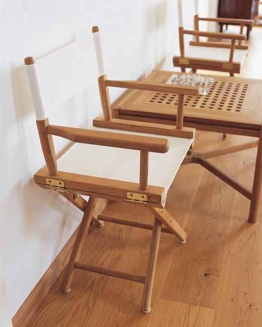 Stylowe krzesło reżysera marki Skagerak