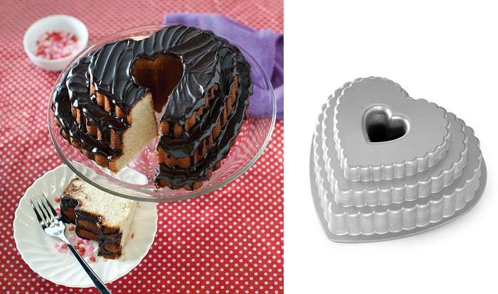 Forma do ciasta warstwowe serce od Nordic Ware
