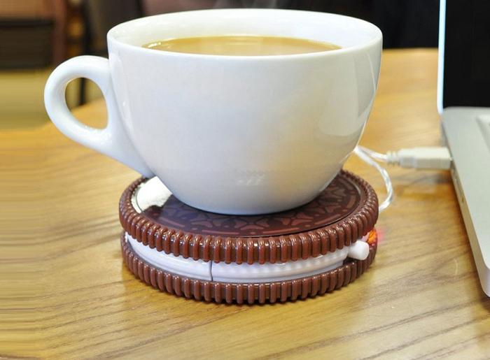 Podgrzewacz na USB w kształcie ciastka firmy Mustard
