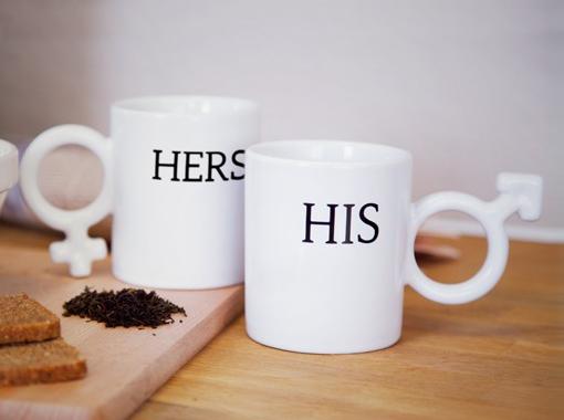 kubeczki dla niej i dla niego