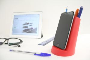 Podstawka pod tablet z pojemnikiem na przybory biurowe marki J-me