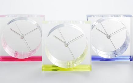 transparentny zegar Lemnos