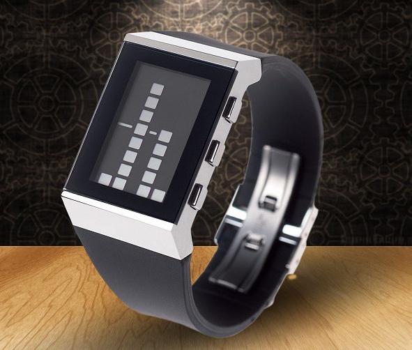 Wodoodporny zegarek binarny marki Lexon