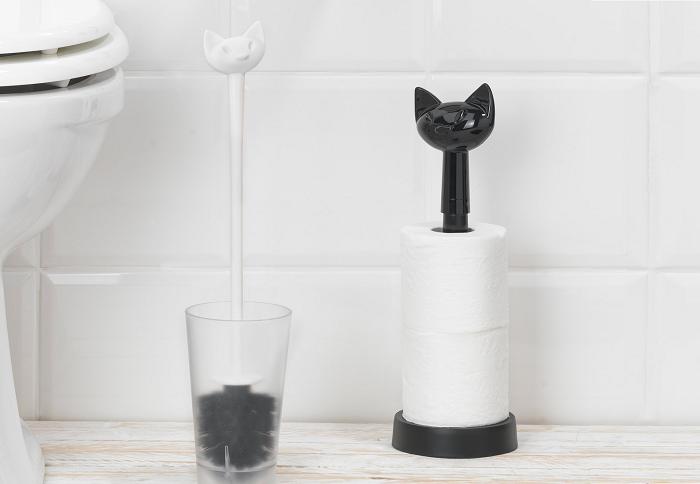 Stojak na papier toaletowy kot Miaou marki Koziol