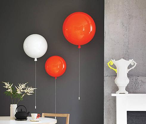 lampy balony sciana