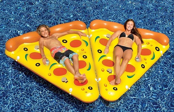 Dmuchany materac kawałek pizzy