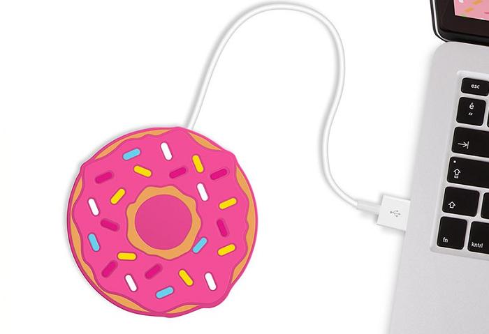 Podgrzewacz do napojów donut na USB firmy Mustard
