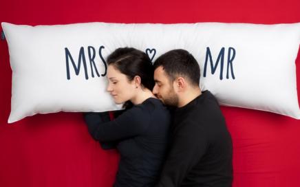 poduszka dla pary Mr MRS