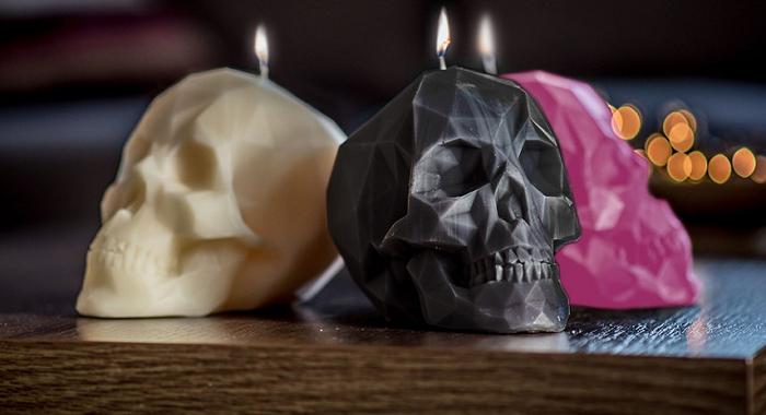 swieczki czaszki 3d