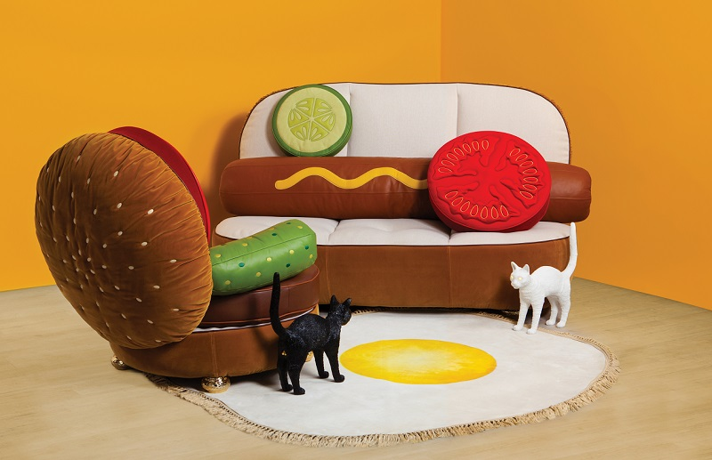 Sofa Hot-dog i fotel burger by Seletti & Studio Job