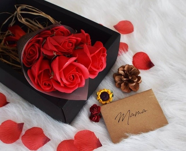 Mydlane róże do kąpieli