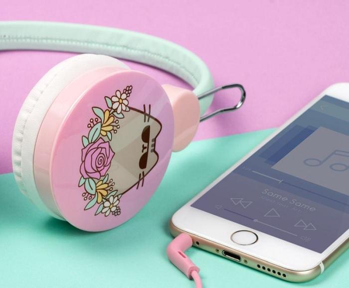 Duże słuchawki kot Pusheen
