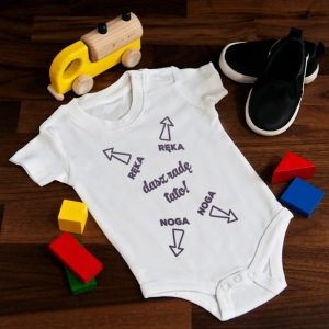 Body dziecięce z instrukcją zakładania
