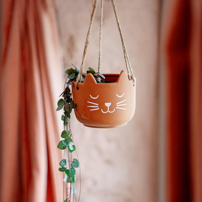 doniczka wiszący kotek
