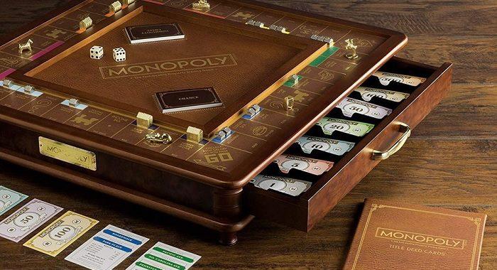 drewniany zestaw do monopoly