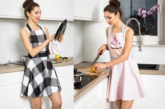 Fartuszek kuchenny jak sukienka