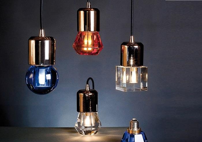 Fikuśne żarówki LED Crystaled marki Seletti