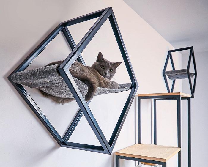geometryczne legowisko na sciane