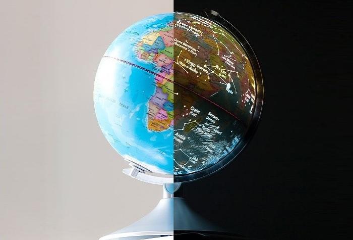 Globus dzień i noc