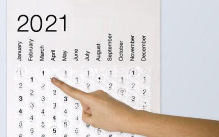 kalendarz 2021 folia bombelkowa
