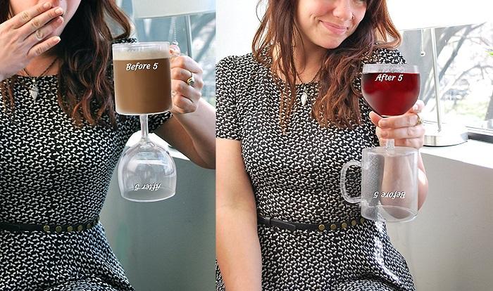 Kieliszek i kubek do kawy w jednym by Bigmouth