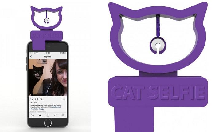 kocie selfie telefon