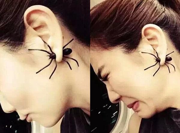kolczyki pająki