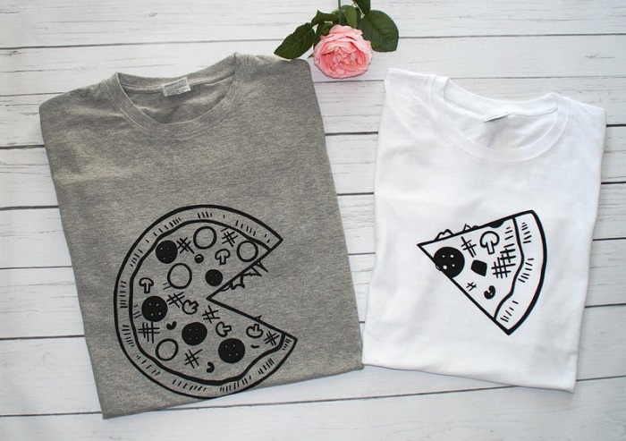 koszulki dla pary pizza