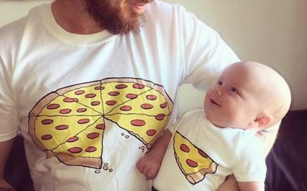 koszulki tata syn pizza