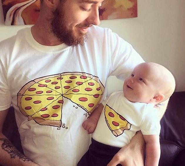 Koszulki dla Taty i dziecka Pizza