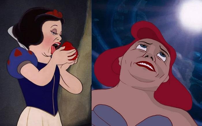 Księżniczki Disney'a w bardziej realistycznej wersji