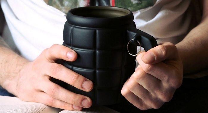 kubek granat czarny